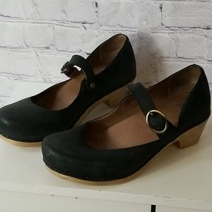 Dansko Antique Black Mary Janes Clog Shoe